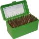 MTM - Аксессуары, Бокс MTM RS-50 на 50 патронов кал. 222 Rem и 223 Rem. Цвет – зеленый.